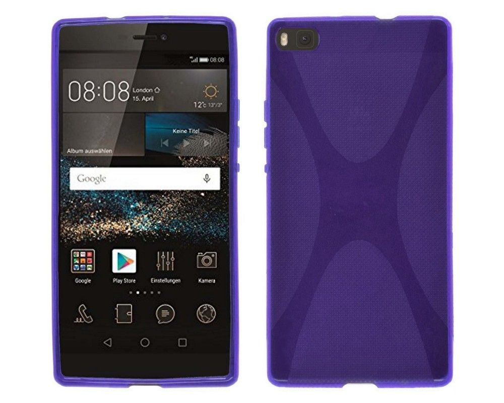 Funda Gel Tpu Huawei P8 X Line Color Morada