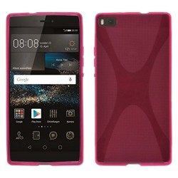 Funda Gel Tpu Huawei P8 X Line Color Rosa