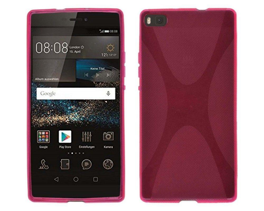 Funda Gel Tpu Huawei P8 X Line Color Rosa