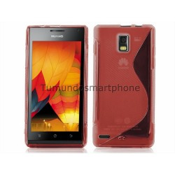 Funda Gel Tpu Huawei Ascend P1 U9200 S Line Color Roja
