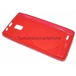 Funda Gel Tpu Huawei Ascend P1 U9200 S Line Color Roja