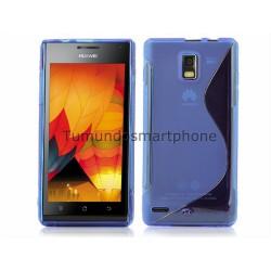 Funda Gel Tpu Huawei Ascend P1 U9200 S Line Color Azul