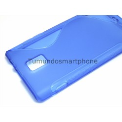 Funda Gel Tpu Huawei Ascend P1 U9200 S Line Color Azul