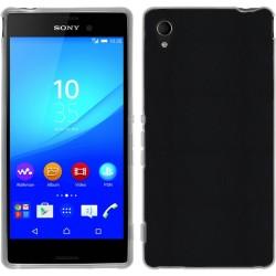 Funda Gel Efecto Piel para Sony Xperia M4 Aqua Color Negra