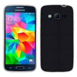 Funda Gel Efecto Piel para Samsung Galaxy Core Prime G360F Color Negra