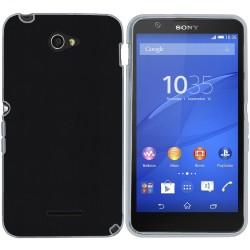 Funda Gel Efecto Piel para Sony Xperia E4 Color Negra