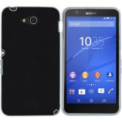 Funda Gel Efecto Piel para Sony Xperia E4G Color Negra