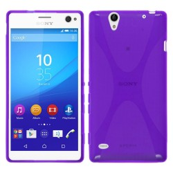 Funda Gel Tpu Sony Xperia C4 X Line Color Morada