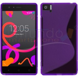 Funda Gel Tpu Bq Aquaris M5 S Line Color Morada