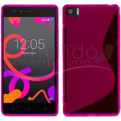 Funda Gel Tpu Bq Aquaris M5 S Line Color Rosa