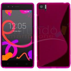 Funda Gel Tpu Bq Aquaris M5 S Line Color Rosa