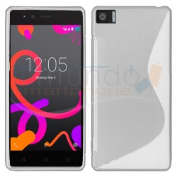 Funda Gel Tpu para Bq Aquaris M4.5 / A4.5 S Line Color Blanca