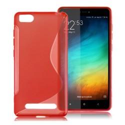 Funda Gel Tpu para Xiaomi Mi 4I / Mi 4C S Line Color Roja