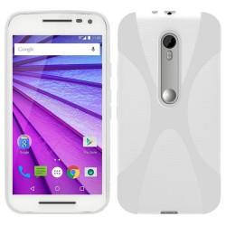 "Funda Gel Tpu para Motorola Moto G 3 5"" (3Ra Gen.) 2015 X Line Color Blanca"