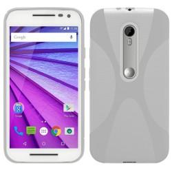 """Funda Gel Tpu para Motorola Moto G 3 5"""" (3Ra Gen.) 2015 X Line Color Transparente"""