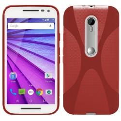 "Funda Gel Tpu para Motorola Moto G 3 5"" (3Ra Gen.) 2015 X Line Color Roja"