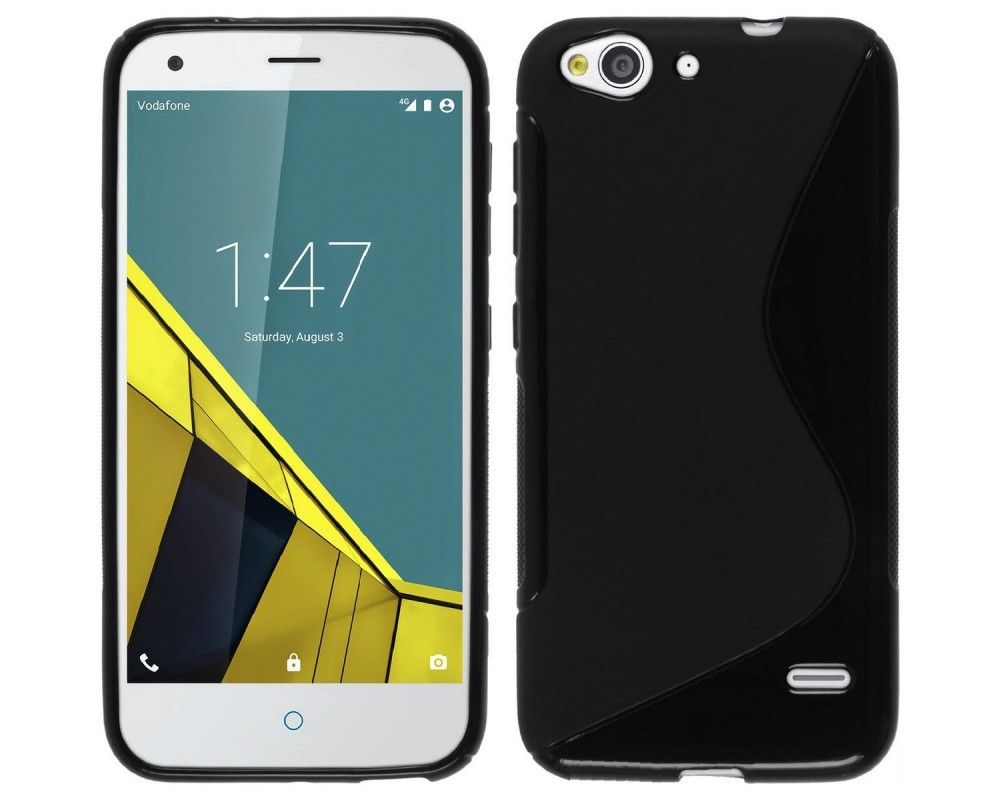 Funda Gel Tpu para Vodafone Smart Ultra 6 S Line Color Negra