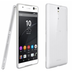 Funda Gel Tpu Fina Ultra-Thin 0,3mm Transparente para Sony Xperia C5 Ultra
