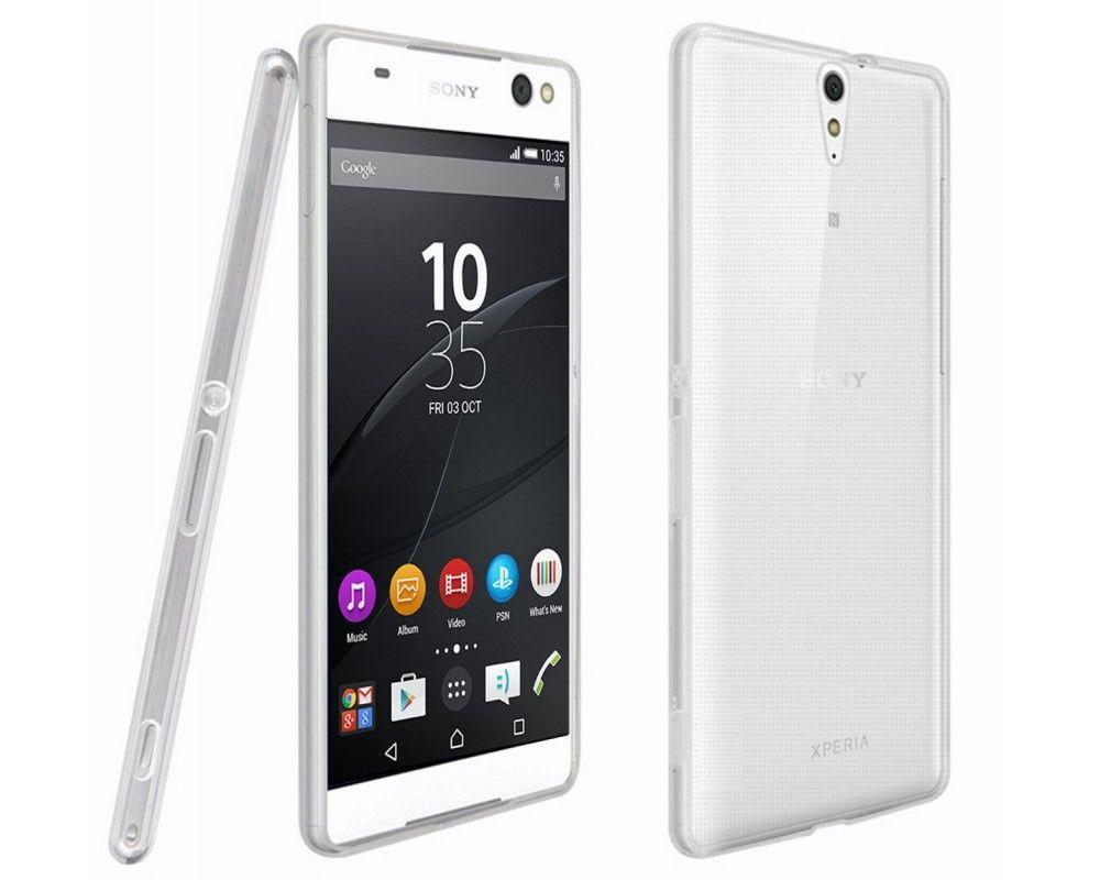 Funda Gel Tpu Fina Ultra-Thin 0,3mm Transparente para Sony Xperia C5 Ultra