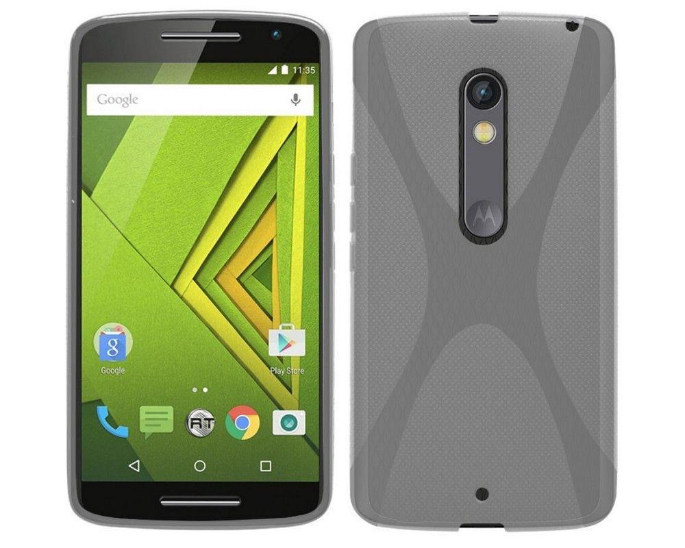 Funda Gel Tpu para Motorola Moto X Play X Line Color Transparente