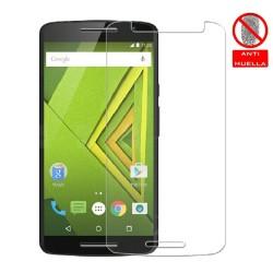 3x Protector Pantalla Mate Antihuellas (Anti-Glare) para Motorola Moto X Play