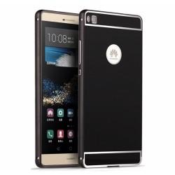 Funda Bumper Negra Aluminio + Tapa Trasera para Huawei P8