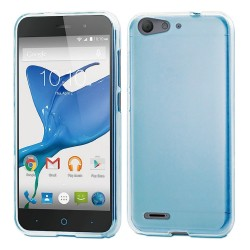 Funda Gel Tpu Zte Blade V6 Color Azul