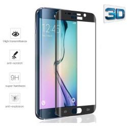 Protector Pantalla Cristal Templado Negro para Samsung Galaxy S6 Edge + Plus Vidrio