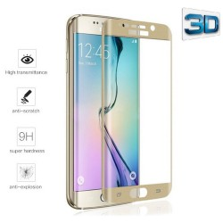 Protector Pantalla Cristal Templado Color Dorado para Samsung Galaxy S6 Edge + Plus Vidrio