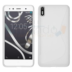Funda Gel Tpu para Bq Aquaris X5 S Line Color Blanca