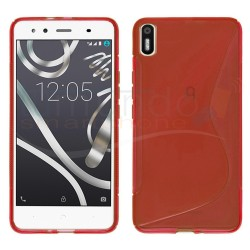 Funda Gel Tpu para Bq Aquaris X5 S Line Color Roja