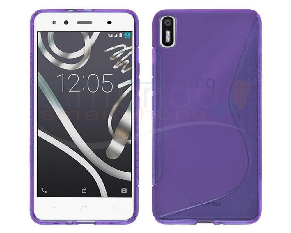 Funda Gel Tpu para Bq Aquaris X5 S Line Color Morada