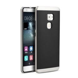Funda Tipo Neo Hybrid (Pc+Tpu) Negra / Plata para Huawei Mate S