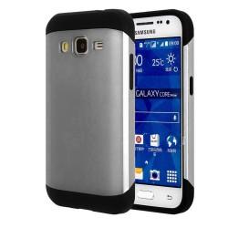 Funda Tipo Neo Hybrid (Pc+Tpu) Negra / Plata para Samsung Galaxy Core Prime G360F