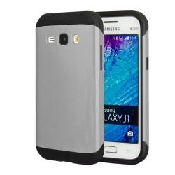 Funda Tipo Neo Hybrid (Pc+Tpu) Negra / Plata para Samsung Galaxy J1 J100H