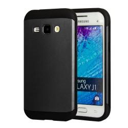 Funda Tipo Neo Hybrid (Pc+Tpu) Negra / Gris para Samsung Galaxy J1 J100H