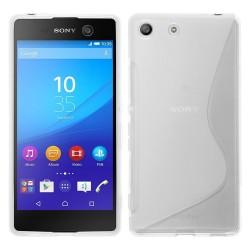 Funda Gel Tpu para Sony Xperia M5 S Line Color Transparente