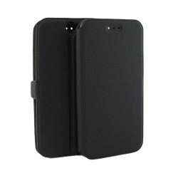 Funda Soporte Piel Negra para HTC One A9 Flip Libro