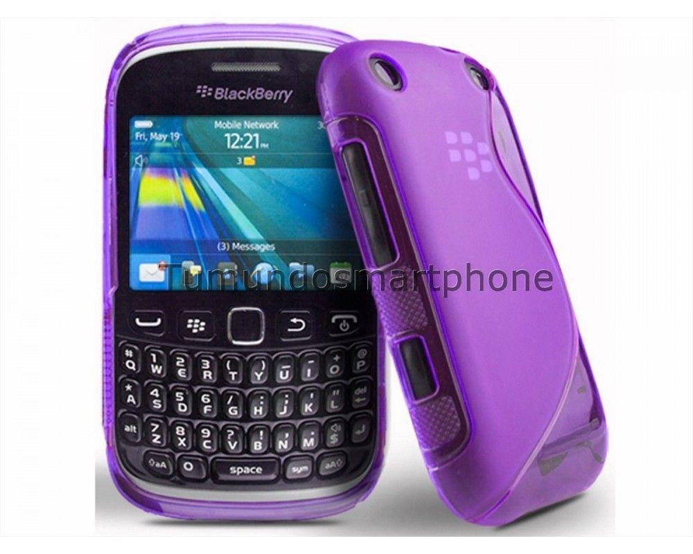Funda Gel Tpu Blackberry Curve 9320 9220 Bb9320 Bb9220 S Line Color Morada