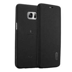 Funda Piel Flip Negra Marca Lenuo para Samsung Galaxy S6 Edge + Plus