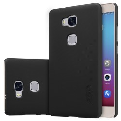 Carcasa Funda Nillkin Modelo Frosted + Protector para Huawei Honor 5X Color Negra