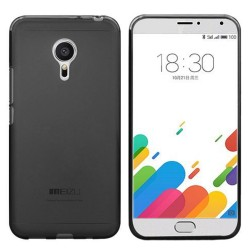Funda Gel Tpu Meizu Metal Color Negra