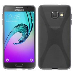 Funda Gel Tpu para Samsung Galaxy A5 (2016) X Line Color Transparente