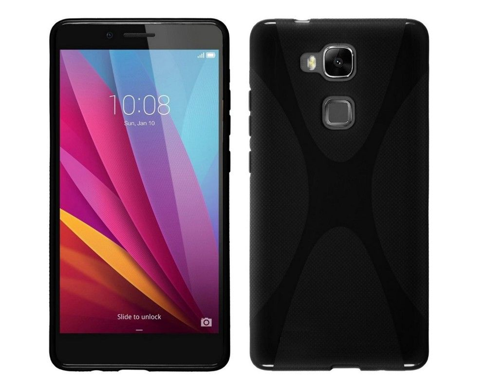 Funda Gel Tpu para Huawei Honor 5X X Line Color Negra