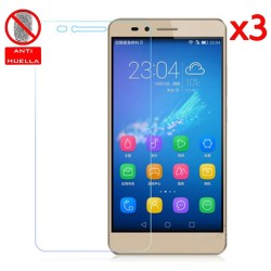 3x Protector Pantalla Mate Antihuellas (Anti-Glare) para Huawei Honor 5X
