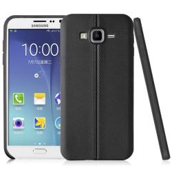 Funda Gel Tpu Tipo Skin Negra para Samsung Galaxy Grand Prime Piel
