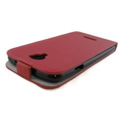 Funda Piel Premium Ultra-Slim Coolpad Modena Roja