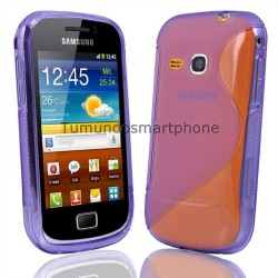 Funda Gel Tpu Galaxy Mini 2 S6500 S Line Color Morada