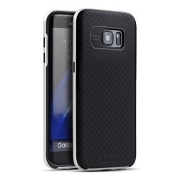 Funda Tipo Neo Hybrid (Pc+Tpu) Negra / Plata para Samsung Galaxy S7 Edge
