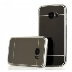 Funda Gel Tpu Efecto Espejo Gris para Samsung Galaxy S7 Edge
